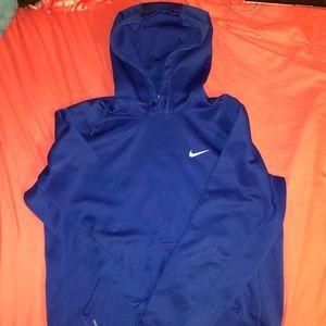 blue nike hoodie!